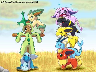 Evoli en chibi - Famille evoli pokemon ...